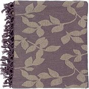 Satara Throw - Plum/Tan