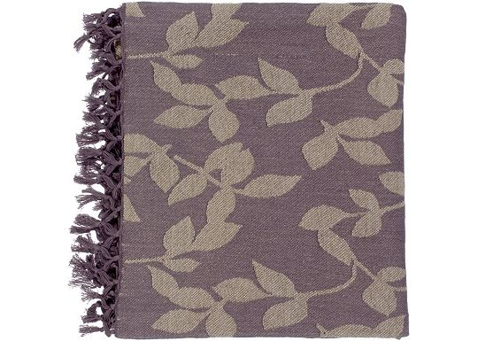 Accessories - Satara Throw - Plum/Tan