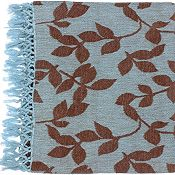 Satara Throw - Sky Blue/Brown