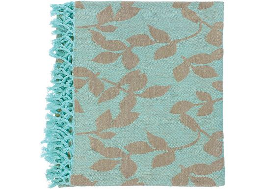 Accessories - Satara Throw - Aqua/Tan