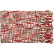 Normandy Throw - Red/Sky/Ivory