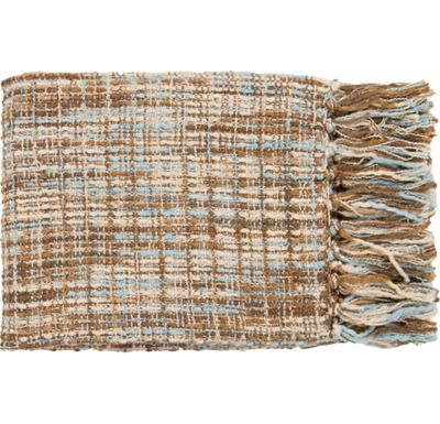 Accessories - Normandy Throw - Sky/Beige/Khaki