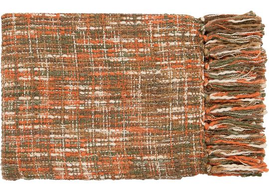 Accessories - Normandy Throw - Rust/Ivory/Dark Green