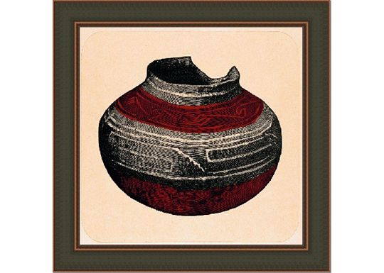 Accessories - Small Tusayan Basketry IV in Red
