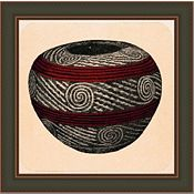 Small Tusayan Basketry V in Red