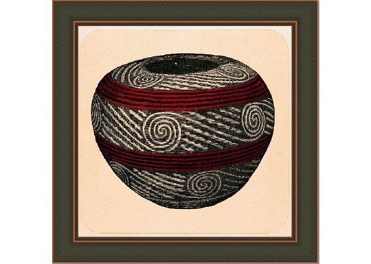 Accessories - Small Tusayan Basketry V in Red