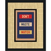 Vintage Green - Don't Waste Water