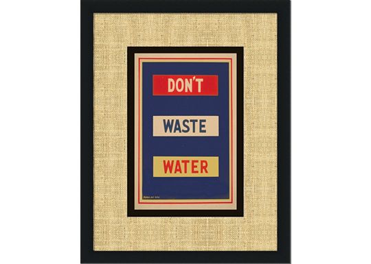 Accessories - Vintage Green - Don't Waste Water