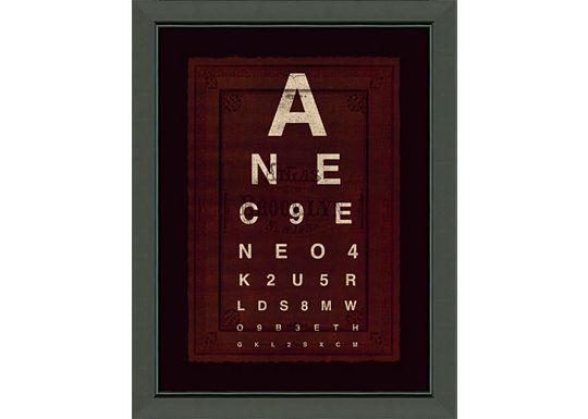 Accessories - Eye Chart A