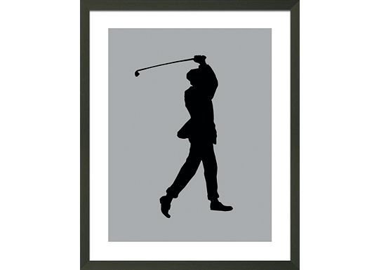 Accessories - Grey Golfer Silhouette A