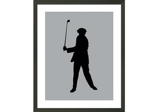 Accessories - Grey Golfer Silhouette D