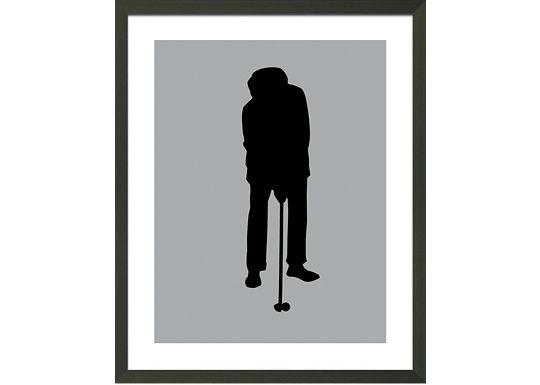 Accessories - Grey Golfer Silhouette E