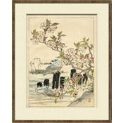 Asian Garden Etchings B