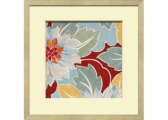 Accessories - Small Vintage Floral Textile Design B