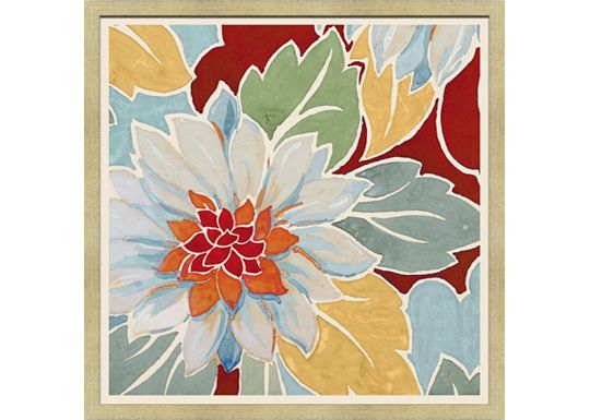 Accessories - Medium Vintage Floral Textile Design A