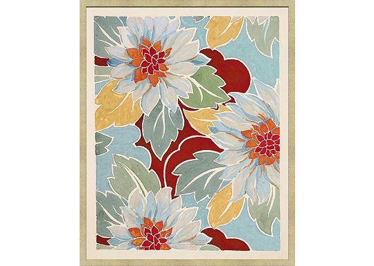 Accessories - Large Vintage Floral Textile Design B