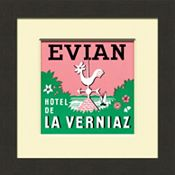Evian Vintage Luggage Tag