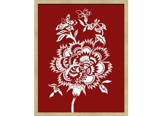 Accessories - Vintage Flora Quilt Pattern in Cinnabar A