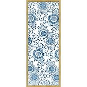Indigo Blue Designs for Kimono in White A