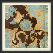 Large Blue Batick Textile Design