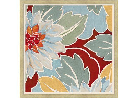Accessories - Medium Vintage Floral Textile Design B