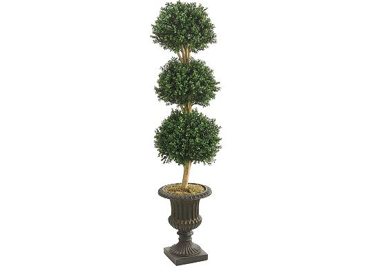 Accessories - Triple Ball Boxwood Topiary in Urn