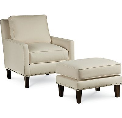 Highlife Chair and Ottoman with Nails (1313-02)