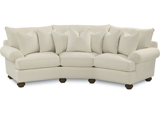 Portofino Wedge Sofa (Dropped Fabric 1293-01)