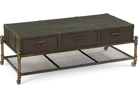 American Anthem - Leather Cocktail Table