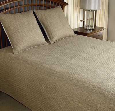 Accessories - Top of Bed - Awakenings - Avondale Bowen Queen Coverlet - Brown
