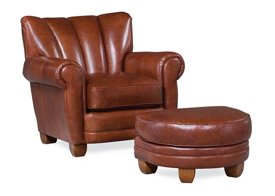 Martini Cigar Chair and Ottoman (0609-07)