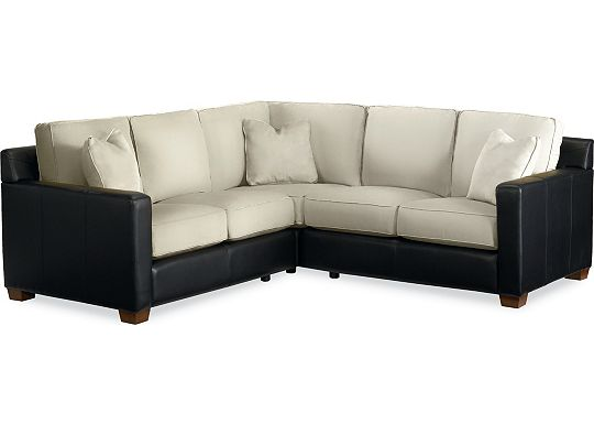 Metro Sectional (Leather: 0511-10, Fabric: 1313-02)