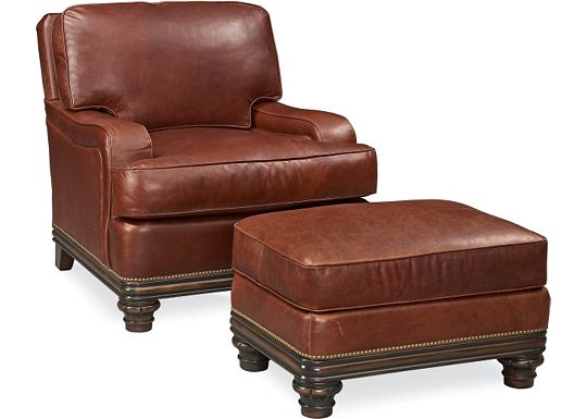 Hadley Chair and Ottoman (0609-07)