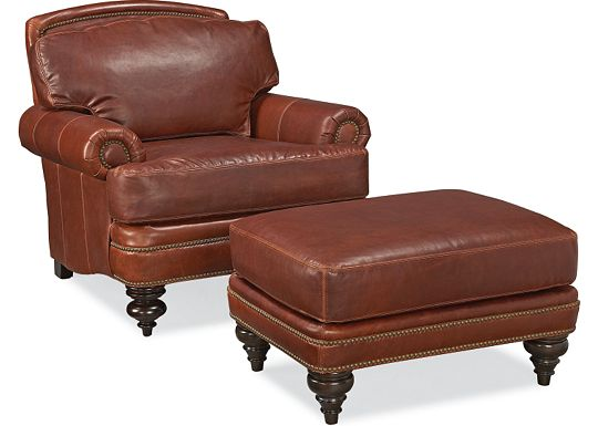 Westport Chair and Ottoman (0609-07)