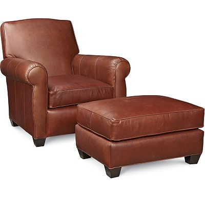Taft Chair and Ottoman (0609-07)