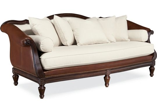 Sorrento Sofa (Leather 0518-05 and Fabric 1010-02)