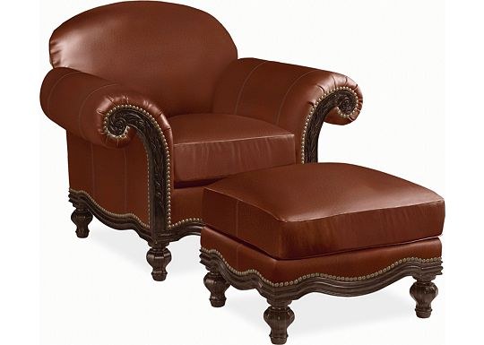 Pauline Chair and Ottoman (0609-07)