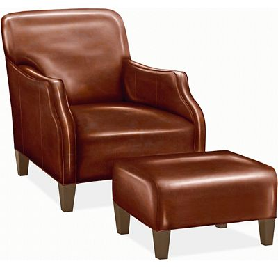 Logan Chair and Ottoman (0609-07)