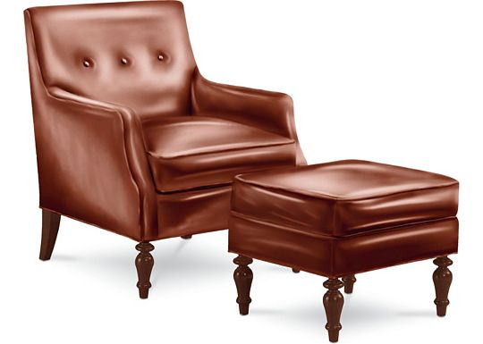 Marlowe Chair and Ottoman (0609-07)