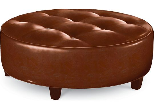 Brooklyn Round Button Top Ottoman