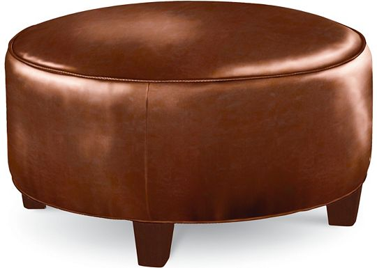 Brooklyn Round Plain Top Ottoman