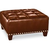 Brooklyn Square Button Top Ottoman