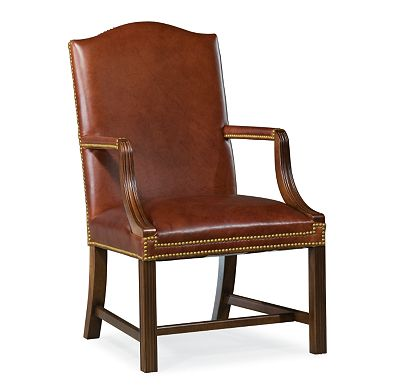 Executive Chippendale Leg Stationary Chair (0609-07)