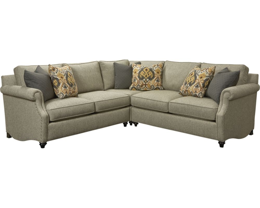 Thomasville sectional sofa thomasville living room for What size sectional for my room