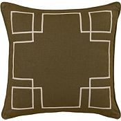 Leon Chestnut with Sable Ribbon Throw Pillow
