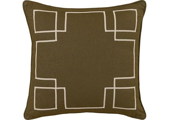 Accessories - Leon Chestnut with Sable Ribbon Throw Pillow