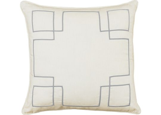 Accessories - Breeze Slate with Aloe Ribbon Throw Pillow