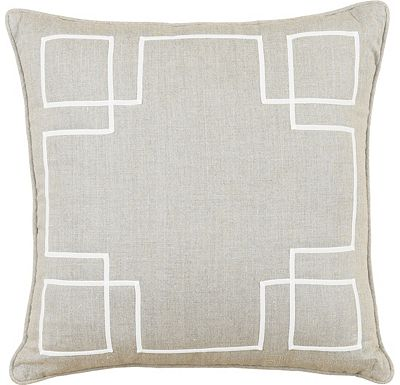 Accessories - Breeze Linen with Ecru Ribbon Throw Pillow