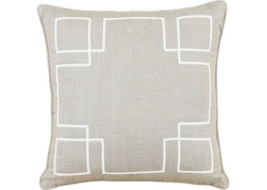 Accessories - Breeze Linen with Ecru Ribbon Throw Pillow