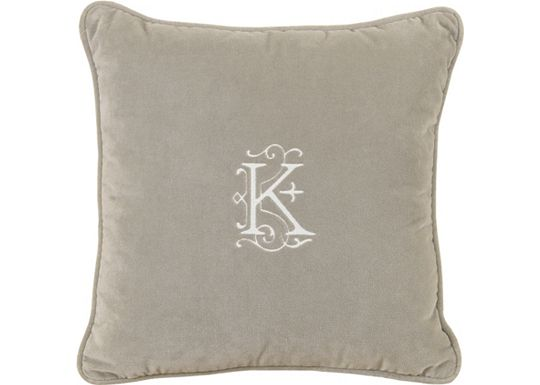 Accessories - Jackson Heather with Monogram Throw Pillow